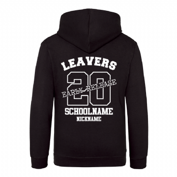 Early Release Leavers hoodie Jet Black